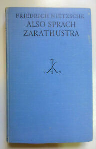 Nietzsche, Friedrich: Also sprach Zarathustra. Ein Buch für Alle und Keinen 1930
