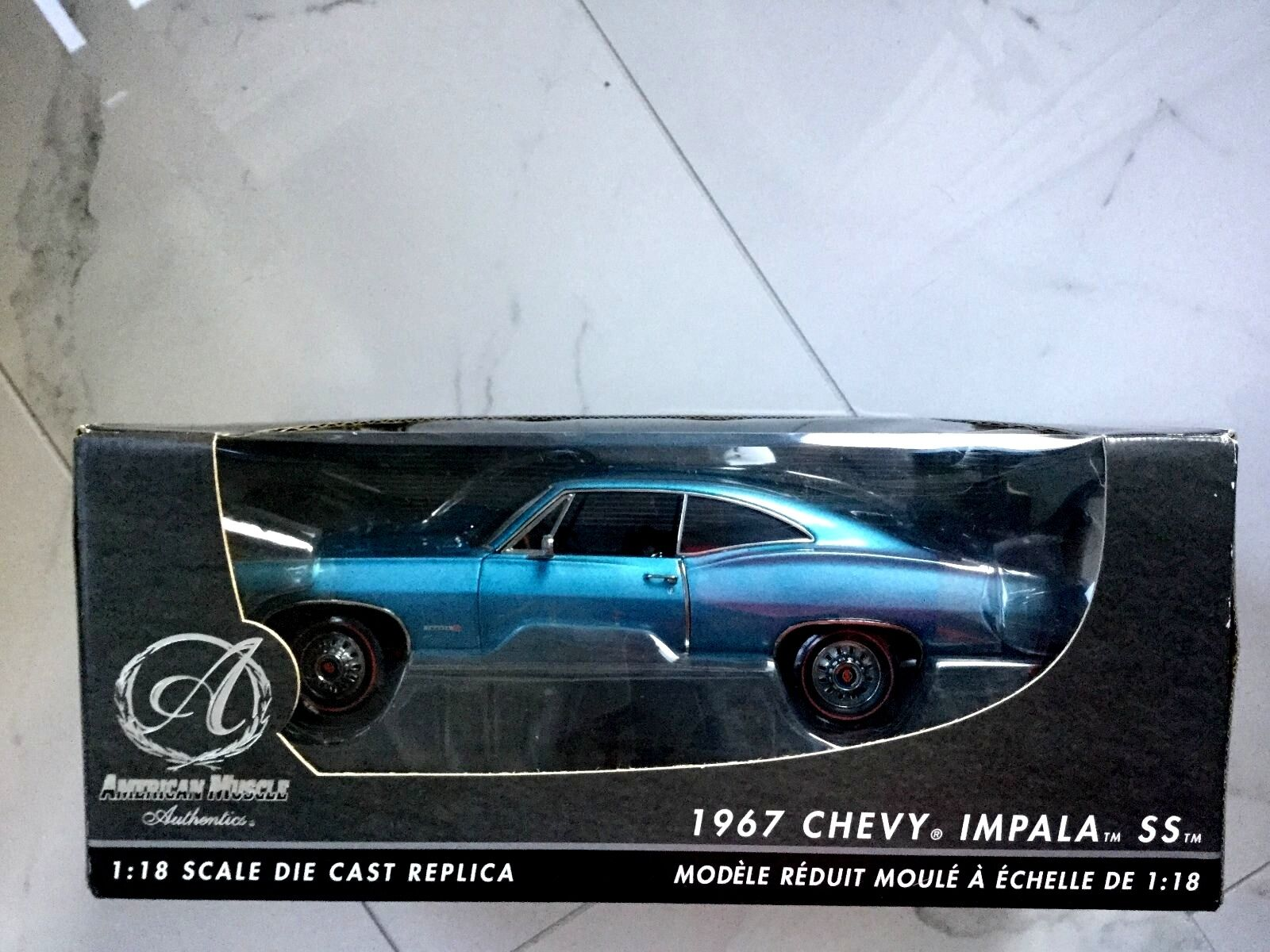 ERTL 1 18 AMERICAN MUSCLE AUTHENTICS 1967 CHEVROLET IMPALA SS 427 ITEM