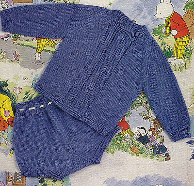 "Knitting Pattern For babies Coat Hat Leggings Fit 19//21/"" CHEST"