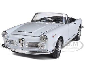 1960 ALFA ROMEO SPIDER 2600 CONVERTIBLE WHITE 1/24 CAST MODEL ...