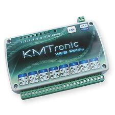 KMTronic LAN IP 8 Canali Relè Scheda Internet Ethernet Domotica Modulo WEB BOX