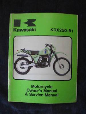kawasaki kdx250 service manual kdx250 b1 kdx 250 mp ebay rh ebay com kawasaki kx250 service manual kawasaki kx 250 f 2010 service manual