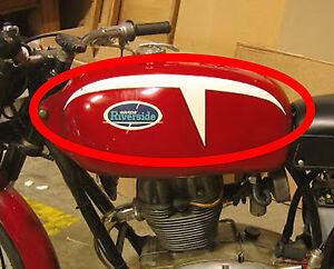 Vintage Look Wards Riverside Benelli Vinyl Stripes Graphic - Vinyl stripes for motorcycles