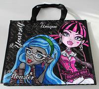 Monster High Tasche Mädchen Einkaufstasche schwarz lila blau Shopper Polyester