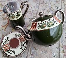 Antique (1909) English Gibson & Sons Albany & Harvey Pottery Teapot & Stand Set