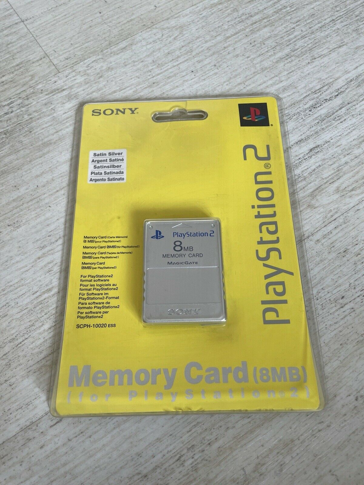 Sony Playstation 2 Official 8mb Memory Card Silver New & Sealed