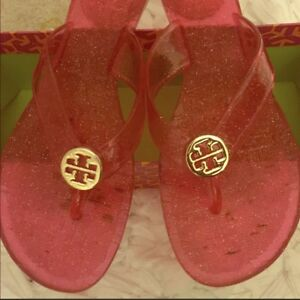 75c957feab5c Image is loading Tory-Burch-Flip-Flop-Sandals-Gold-Logo-Size-