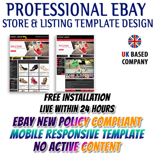 eBay Store & Listing Auction Templates for Apparel, Clothes & Shoes ...