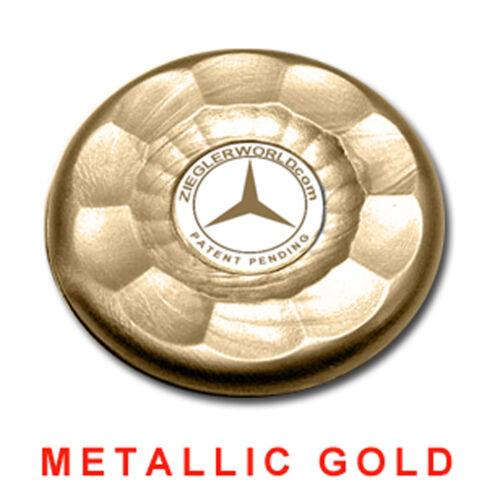 4 LARGE REPLACEMENT AMERICAN SHUFFLEBOARD PUCK CAP TOPS METALLIC GOLD
