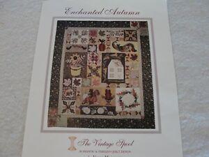 Enchanged autumn bom applique quilt kit mosquera vintage spool