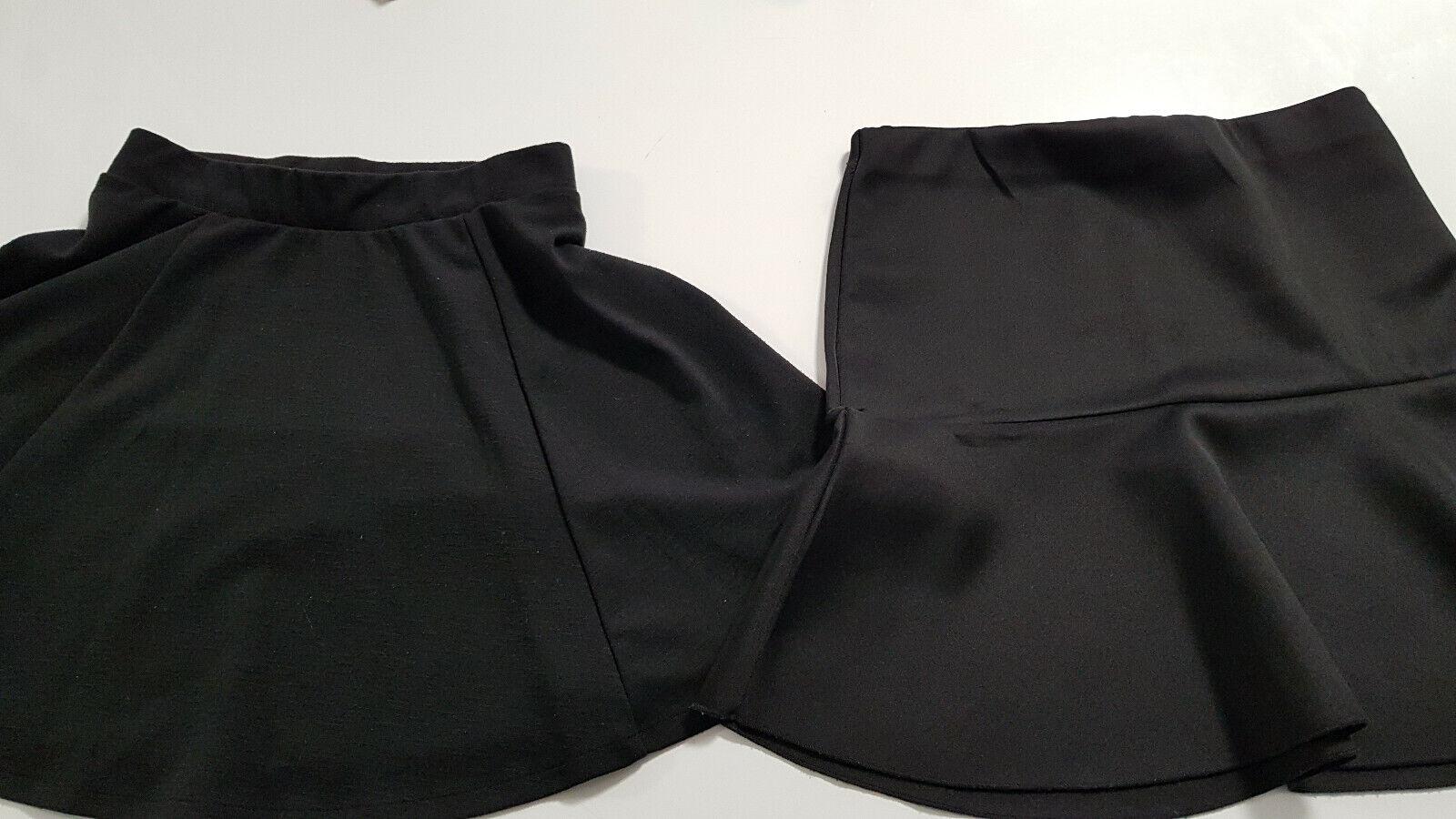 2 Röcke Mini in Schwarz Gr S H&M und FB Sister Rock