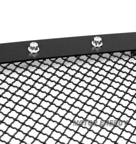 10-12 DODGE RAM 2500 3500 UPPER RIVET MESH GRILLE INSERT BLACK STAINLESS STEEL
