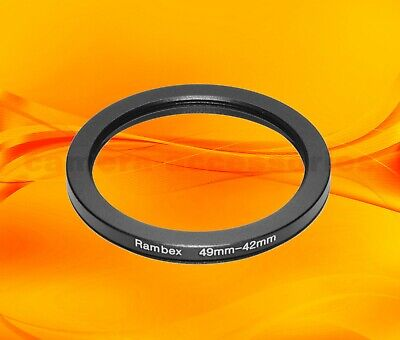 42mm to 49mm Male-Female Stepping Step Up Filter Ring Adapter 42mm-49mm UK