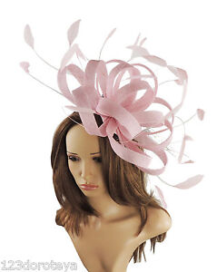 Image is loading Large-Candy-Pink-Fascinator-for-Ascot-Weddings-Mother- d7d7182ca1b