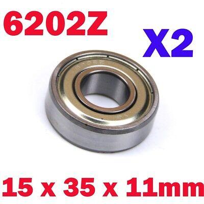 Electric Motor 6002RS 32mm x 15mm x 9mm Shielded Deep Groove Ball Bearing 2 Pcs