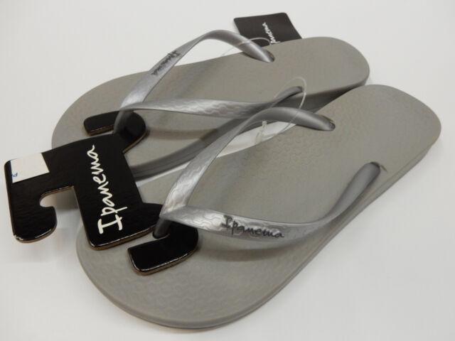 ead180170fc Ipanema Womens Sandals Ana Tan Grey Silver Size 6