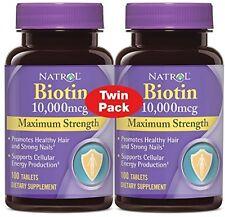 Natrol Biotin Maximum Strength 10000mcg Tablet - 100 Count (2 Pack)