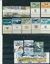 ISRAEL 1959 - 2015 AIR PLANES LOT OF STAMPS ISSUED MNH WITH TABS