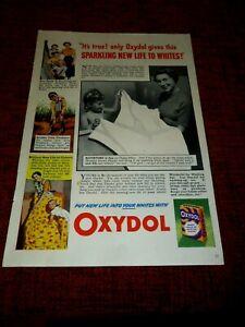 Ephemera-1950-Advertisement-for-OXYDOL-Soap-Powder-034-New-Life-to-Whites-034