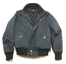 H&M Blue Cotton Polyester Blend Bomber Jacket Size 36R Small