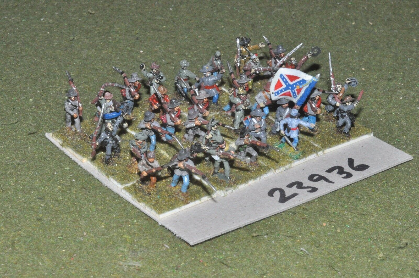 15mm ACW   confederate - regiment 36 figures - inf (23936)