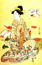 Incorniciato stampa-vintage asiatico giapponese cinese geisha rendendo tè (PICTURE POSTER)