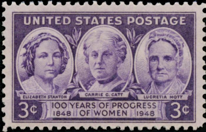 1948 3c Progress of Women, Stanton, Catt, Mott, 100th S