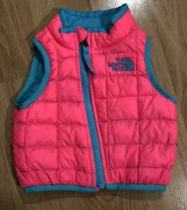 65906ec42d94 THE NORTH FACE THERMOBALL Vest Baby Toddler Size 0-3 Months Pink