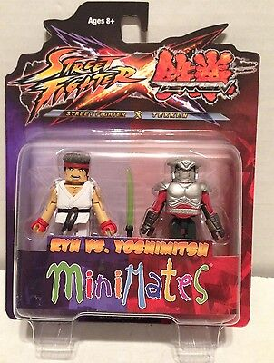 MiniMates Street Fighter vs Tekken KEN /& STEVE 2 Pack moc