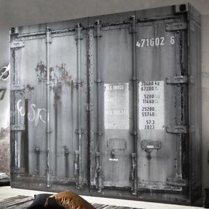 Kleiderschrank container optik 4 trg b 237 cm jugendzimmer for Jugendzimmer opti