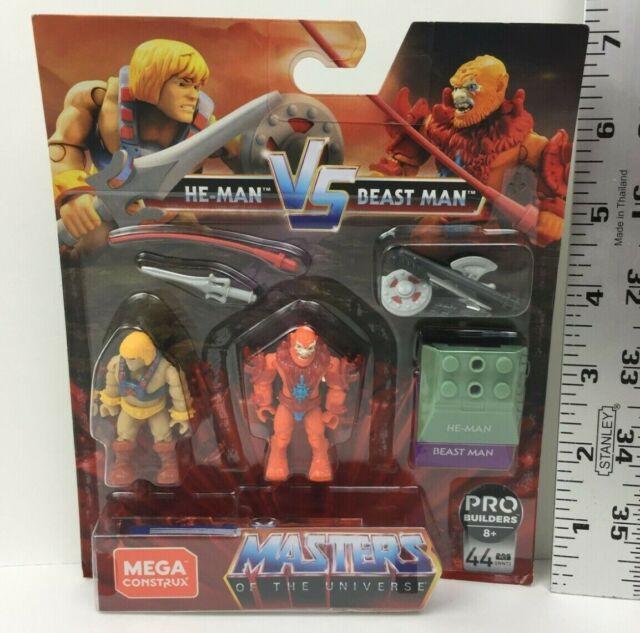He-Man vs Beast Man Masters of the Universe Mega Construx Minifigure 2 Pack