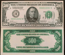 Reproduction United States $500 Bill Federal Reserve Note 1928 Currency Copy USA