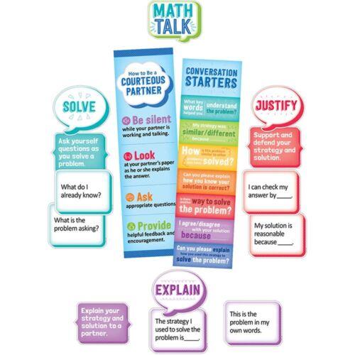 3 /& Up Creative Teaching Press CTP1756 Math Talk Mini Bulletin Board Gr