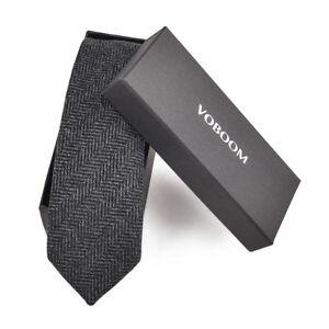 cravate-en-laine-hommes-tweed-a-chevrons-cravates-de-laine-Entreprise-mariage-1