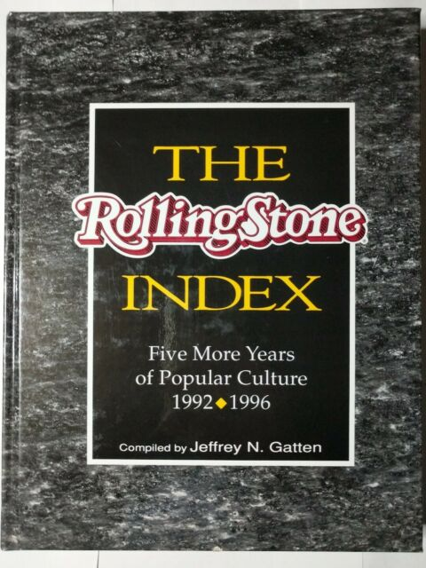 The Rolling Stone Index: 1992-1996. 1st. Edition, 1st. Printing. Collector's Ed.