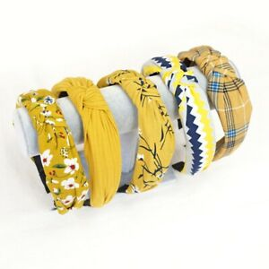 Femme-Chiffon-Bandeau-Twist-Hairband-Bow-Knot-Cross-Bandeau-Cheveux-Bande-Accessoire