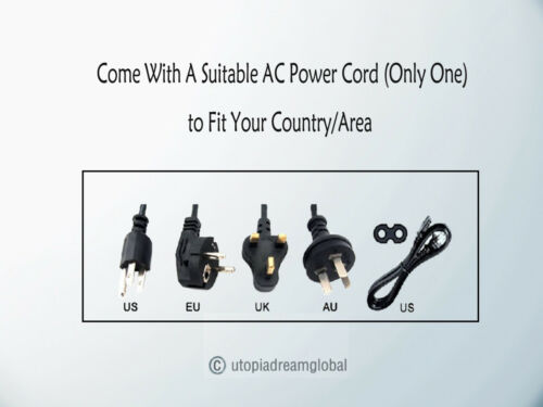 AC Power Cord For JVC Micro Component Theater System 2-Prong Outlet Plug Cable