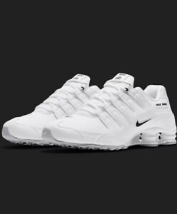 NEW-Nike-Shox-NZ-EU-Casual-Shoes-Men-039-s-Size-8-White-Leather-501524-106