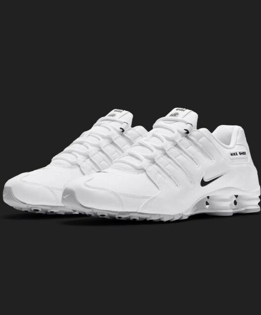 NEW Nike Shox NZ EU Casual Shoes Men's Size 8 White Leather 501524 106