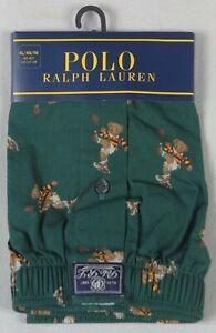 Ralph Lauren Green Classic Fit Boxer Shorts Multi Polo Teddy Bears NWT