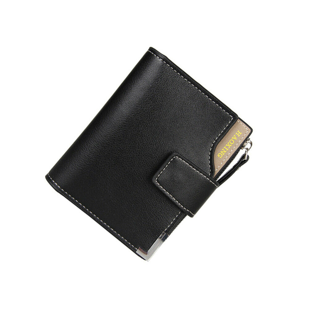 1pc Men Leather Wallet Male Multifunctional Trifold Casual Wallet