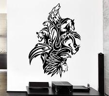 Wall Decal Animals Art Mix Bear Wolf Horse Bird Panther Vinyl Stickers (ed265)