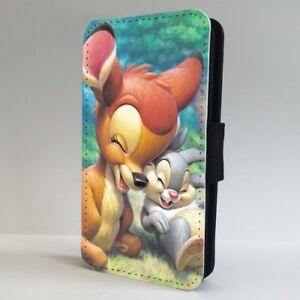 Bambi-THUMPER-Disney-Amici-Flip-Telefono-Case-Cover-per-IPHONE-SAMSUNG