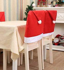 Awe Inspiring Details About 4 Pcs Holiday Christmas Festive Decorations Dining Chair Back Covers Santa Hat Machost Co Dining Chair Design Ideas Machostcouk