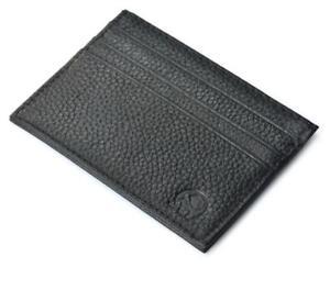 Men/'s Genuine Leather Front Pocket Slim Thin ID Credit Card Money Holder Wallet