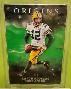 AARON-RODGERS-2019-Panini-Origins-RARE-039-d-5-INSERT-SP-Card-Green-Bay-Packers