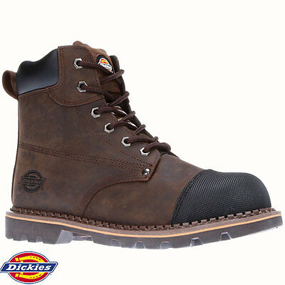 Dickies FD9210 Crawford Braun Leder Stahl Zehen Kappe Sicherheit Arbeit Stiefel Schuhe Größe | eBay