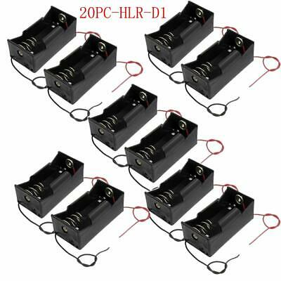 10 D Size DC 2 Cells Battery Power Supply Holder Holds Case Box with Wire PKCELL
