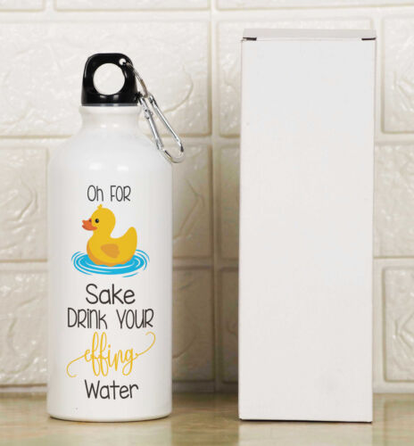 Printtoo Water Bottle Oh For Sake Drink Your Effing Water Print Aluminum-BOT-8A