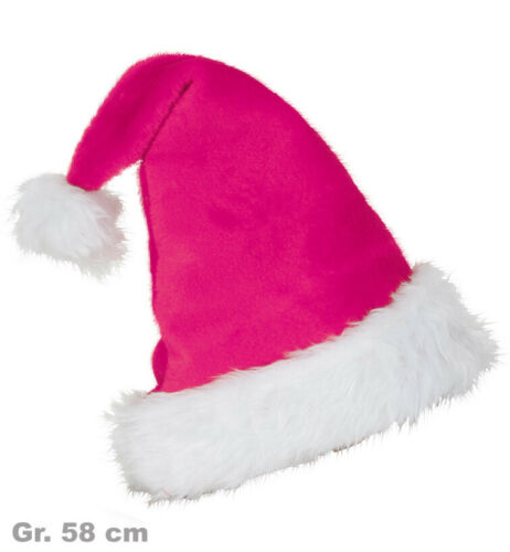 Nikolausmütze Pink Plüschmütze Weihnachten Xmas